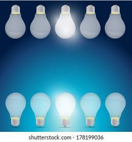 good idea light bulb concept illustration design over a blue background