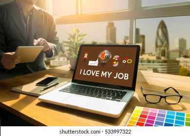 Good Job Assistant I LOVE MY JOB ,  on  Note , Businessman and Businesswoman