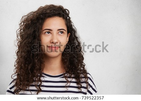 5e3868dda Good Looking Brunette Female Bushy Curly Stock Photo (Edit Now ...