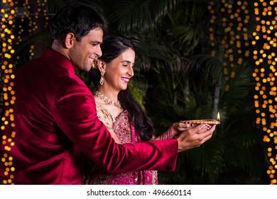Diwali Couples Images Stock Photos Vectors Shutterstock