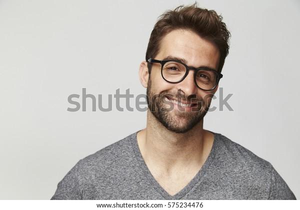 Good looking man in glasses, portrait
