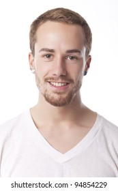 Good Looking Young Man Portrait on white