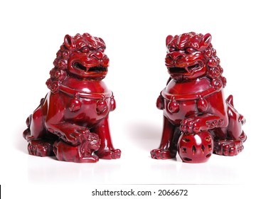 Good luck feng shui fu dogs figurines