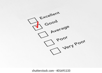 Good Mark on performance evaluation - Business Concept