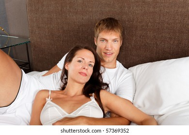 good morning - couple in bed