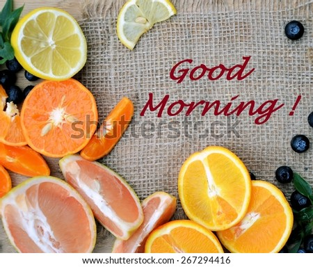 Good Morning Fruits Stock Photo Edit Now 267294416 Shutterstock