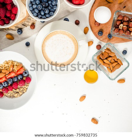 Good Morning Healthy Breakfast Text Space Stock Photo Edit Now
