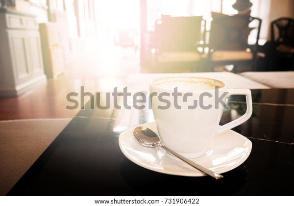 Good morning with hot coffee