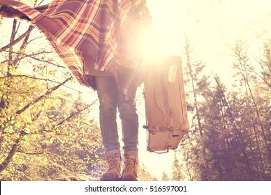 good morning new day, a new trip for a hippies woman