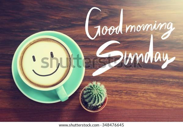 Guten Morgen Sonntagskaffee Hintergrund Mit Vintage Filter