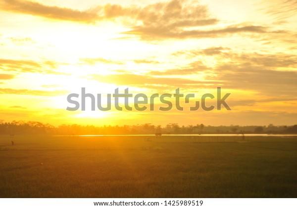 Good Morning Sunrise Nature Background Stock Photo Edit Now 1425989519