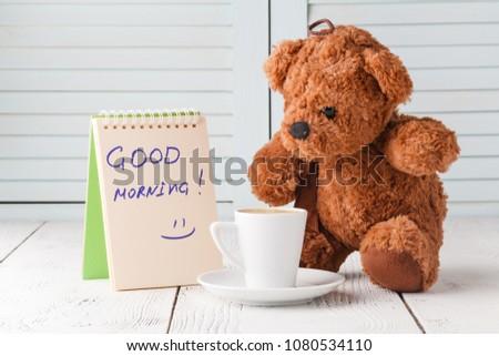 Good Morning Teddy Bear Stock Photo Edit Now 1080534110 Shutterstock