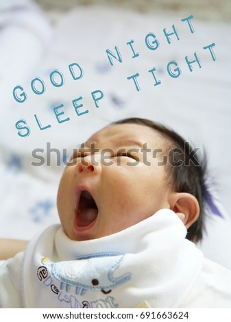 Good Night Sleep Tight Textword Baby Stock Photo Edit Now
