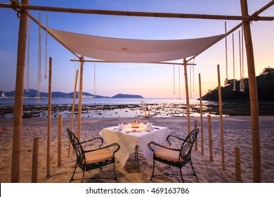 A good place for romantic dinner on the beach