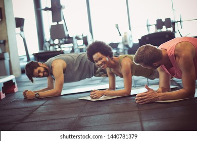 Good position. People in gym.