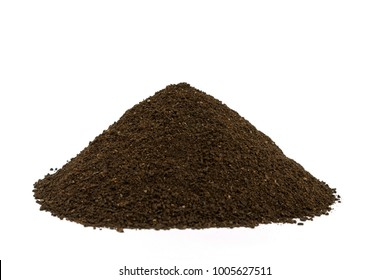 Good quality fertilizer. Vermicompost is a water-soluble nutrient and a nutrient-rich organic fertilizer. It is used in agriculture and small, sustainable, organic farming. White background
