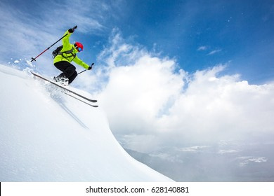 good skiing in the snowy mountains, Carpathians, Ukraine, good winter day, ski season