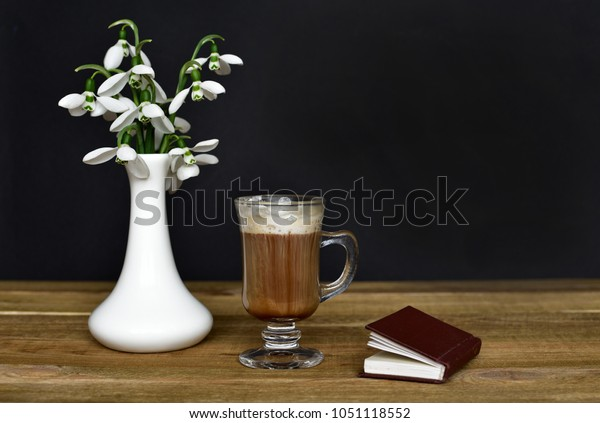 Good Spring Morning Fresh Snowdrops Flowers Stock Photo