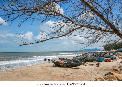 Good views at Ho Coc beach, Ba Ria Vung Tau Province, Vietnam. This is one of the best tourist attractions. People come here to eat seafood and to bathe in the sea.