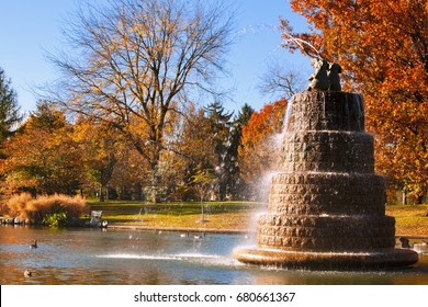 Goodale Park, located in the Victorian Village area of Columbus, Ohio, covers 32 acres and is the oldest park in the city.
