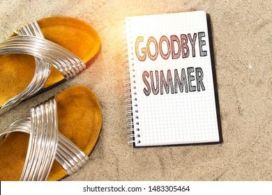 goodbye, bye bye summer concept