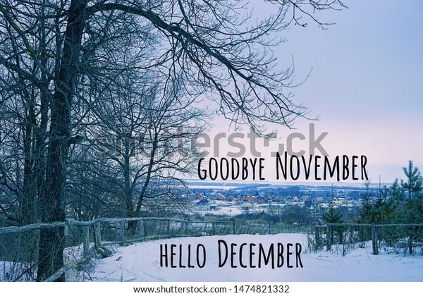 Goodbye November Hello December Winter Landscape Stock Photo Edit