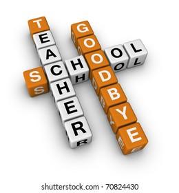 goodbye school (3D crossword orange series)