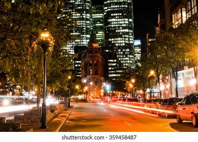 Gooderham building in the night, Toronto, Canada