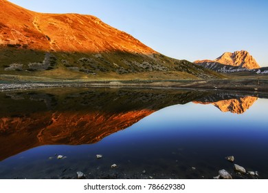 Goodmorning in the National park of Gran Sasso in Abruzzo, Italy