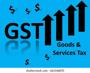 Goods and Services Tax (GST) illustration concept