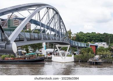 Goodwill bridge in Brisbane. Side view