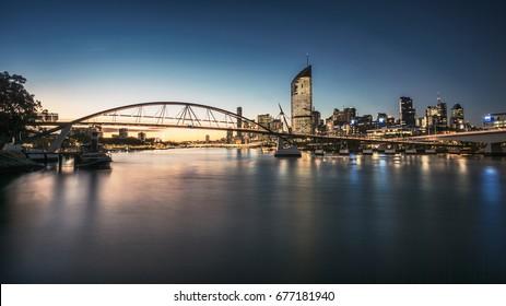Goodwill Bridge Sunset, Brisbane City