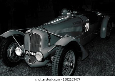 Goodwood, East Sussex, UK - September 08 2018: A 1936 Delahaye 135 track car on display at Goodwood Revival 2017