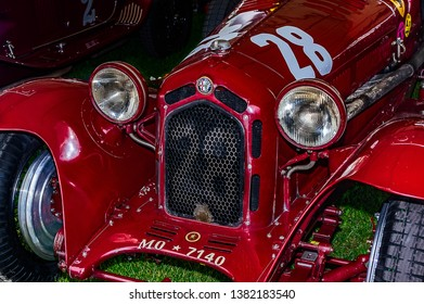 Goodwood, East Sussex, UK - September 08 2018: A 1930 Alfa Romeo 6c 1750 GS track car on display at Goodwood Revival 2017