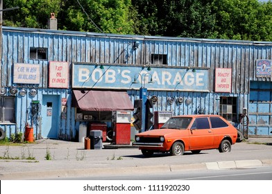 Goodwood, Ontario, Canada, June 11, 2018:  Bob's Garage a fictional TV auto-shop featured in Schitt's Creek.