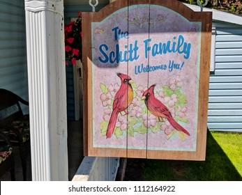 Goodwood, Ontario, Canada, June 11, 2018:  The Schitt Family home as featured in Schitt's Creek.