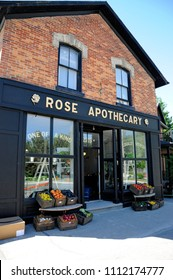 Goodwood, Ontario, Canada, June 11, 2018:  Rose Apothecary a fictional store featured in the Schitt`s Creek television series.series.