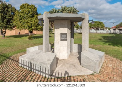 GOODWOOD, SOUTH AFRICA, AUGUST 14, 2018: A memorial honoring members of the Goodwood community who died in military service