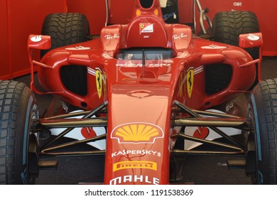 GOODWOOD, UK July 12: Ferrari formula one car at the Goodwood festival of speed in Goodwood, England
