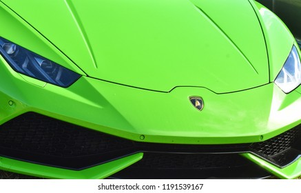 GOODWOOD, UK July 12: Green Lamborghini at the Goodwood festival of speed, Goodwood, England