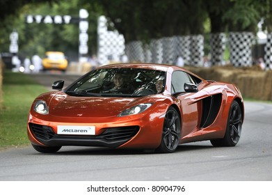 GOODWOOD, UNITED KINGDOM - JULY 3: The new McLaren MP4-12C drives up the hill at the Goodwood Festival of Speed in the United Kingdom on July 3rd 2011 in Goodwood, UK