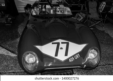 Goodwood, West Sussex, UK - September 08, 2017: A circa 1958 Lotus Mk XV Series 3 on static display at Goodwood Revival 2017