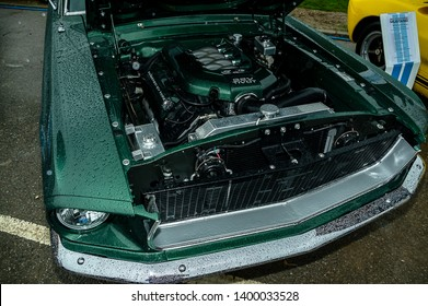 Goodwood, West Sussex, UK - September 08, 2017: 1968 Ford Mustang GT 289 on static display at Goodwood Revival 2017