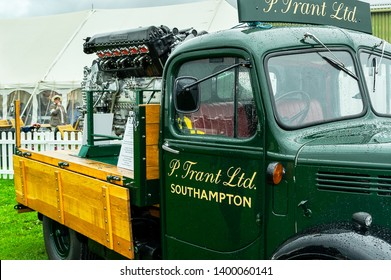 Goodwood, West Sussex, UK - September 08, 2017: A 1940's Bedford K type truck on static display at Goodwood Revival 2017