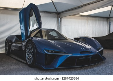 GOODWOOD, WEST SUSSEX/UK - JULY 12, 2018: NIO EP9 at Festival of Speed