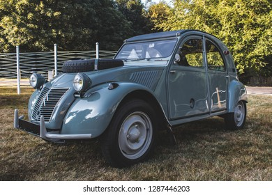 GOODWOOD, WEST SUSSEX/UK - JULY 12, 2018: Citroen 2CV Sahara at Festival of Speed