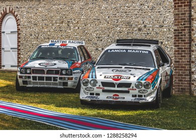 GOODWOOD, WEST SUSSEX/UK - JULY 12, 2018: Two Lancia Deltas at Festival of Speed