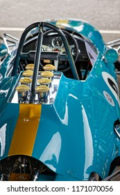 GOODWOOD, WEST SUSSEX/UK - SEPTEMBER 14 : Partial view of a vintage racing car at Goodwood on September 14, 2012
