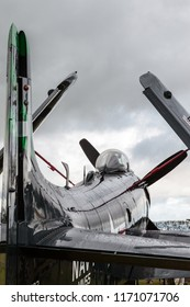 GOODWOOD, WEST SUSSEX/UK - SEPTEMBER 14 : Douglas Skyraider parked at Goodwood on September 14, 2012