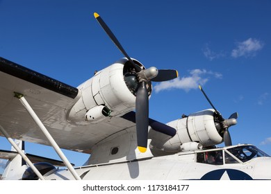 GOODWOOD, WEST SUSSEX/UK - SEPTEMBER 14 : Close-up of a Catalina Flying Boat at the Goodwood Revival  on September 14, 2012